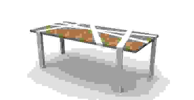 Tavolo Nest di Nyda Design - Nicola D'Alessandro architetto Moderno Legno Effetto legno