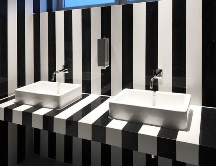 trend group Modern bathroom Tiles Black