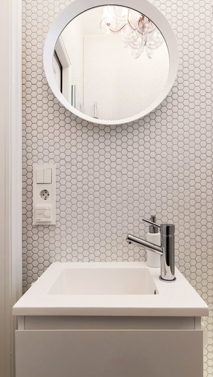 trend group Modern bathroom Tiles White