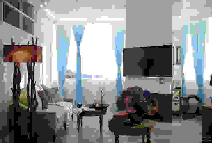 Дизайн гостиной в Геленджике Гостиная в средиземноморском стиле от Студия интерьерного дизайна happy.design Средиземноморский
