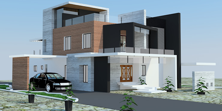 Projects—Residential Modern houses by Jehovah Nissi Archfirm Modern Bricks