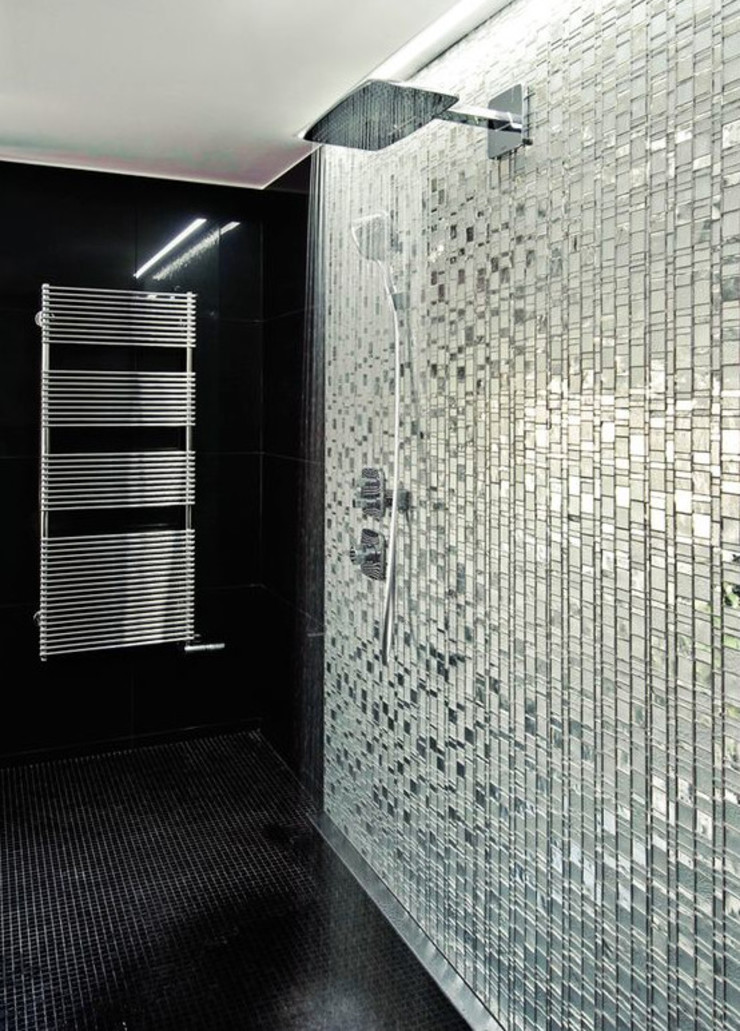 trend group Modern bathroom Tiles Metallic/Silver