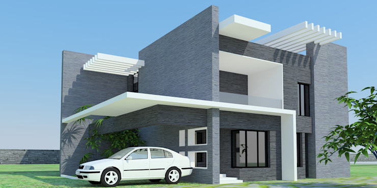 Projects—Residential Minimalist houses by Jehovah Nissi Archfirm Minimalist Concrete