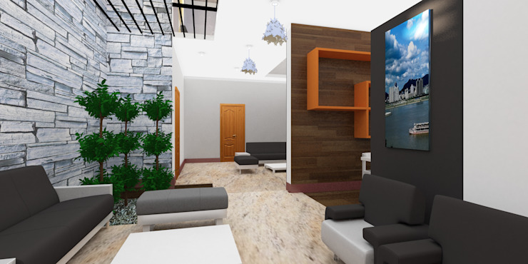 Projects—Residential Modern living room by Jehovah Nissi Archfirm Modern