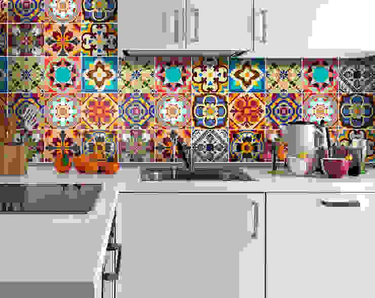Talavera Traditional Tile Decals por MOONWALLSTICKERS.COM Mediterrânico