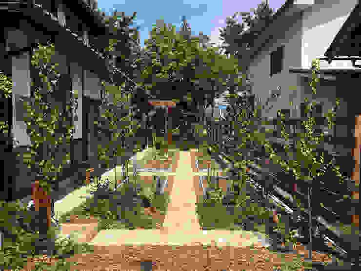 株式会社ガーデンホリック JardínPlantas y flores Ladrillos Beige
