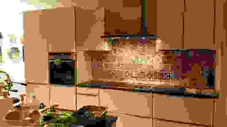 Customized Kitchen Backsplash with Portuguese Tiles Wall Art por MOONWALLSTICKERS.COM