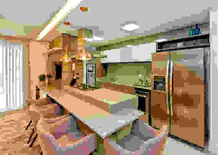 Modern style kitchen by Tatiana Junkes Arquitetura e Luminotécnica Modern