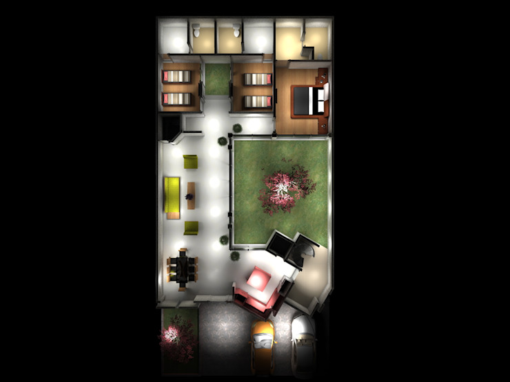 PLANTA CASA BILBAO Casas de estilo minimalista de homify Minimalista