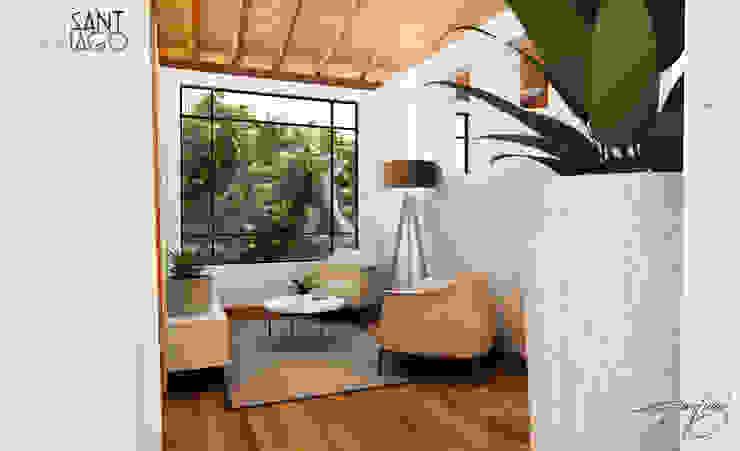 vestubulo Salones minimalistas de SANT1AGO arquitectura y diseño Minimalista