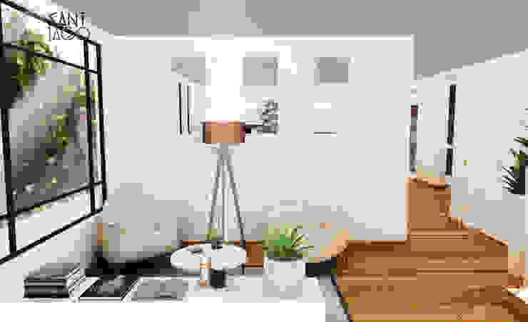 vestibulo Salones minimalistas de SANT1AGO arquitectura y diseño Minimalista