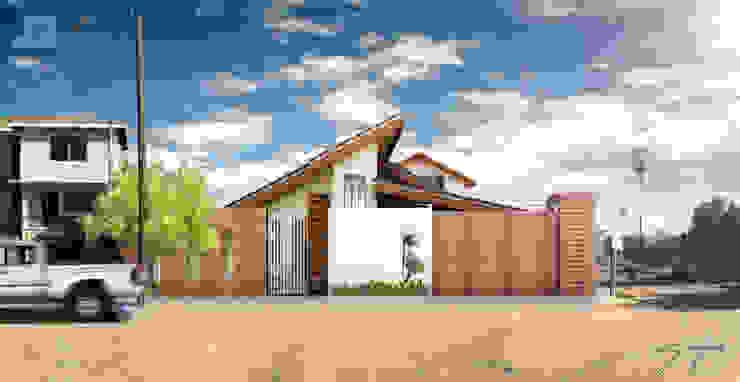 fechda principal Casas minimalistas de SANT1AGO arquitectura y diseño Minimalista