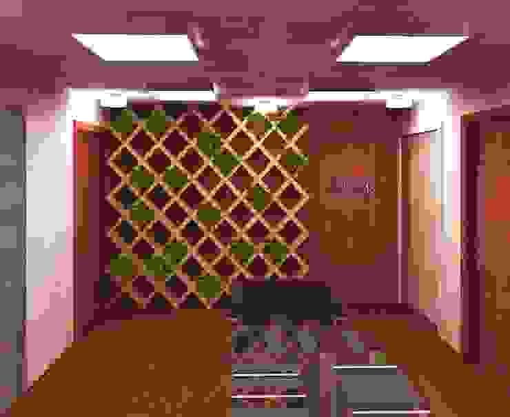 Lobby Olivo MX Estudios y despachos modernos de Perfil Arquitectónico Moderno