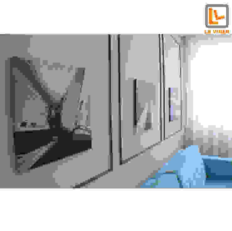 现代客厅設計點子、靈感 & 圖片 根據 Le Viner Arquitetura 現代風 木頭 Wood effect