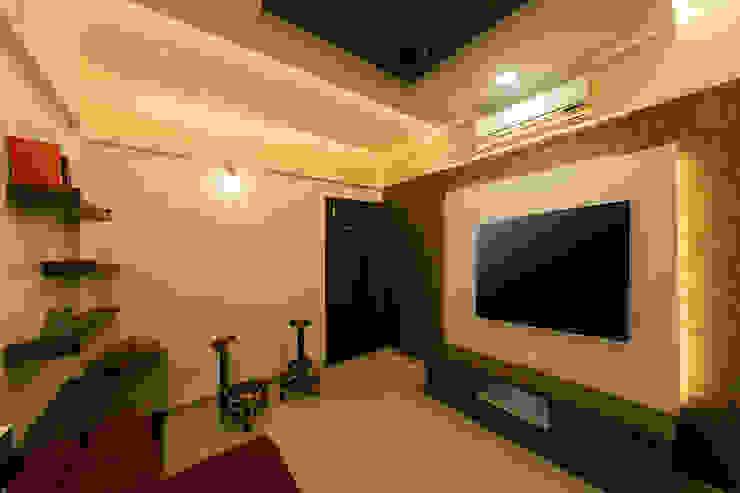 Navmiti Designs Sala multimediale moderna