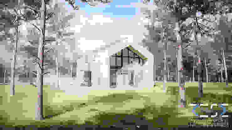 Modern Houses by RESE Architekci Biuro Projektowe Modern Wood Wood effect