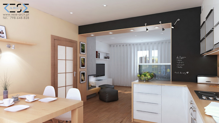 by RESE Architekci Biuro Projektowe Minimalist Wood Wood effect