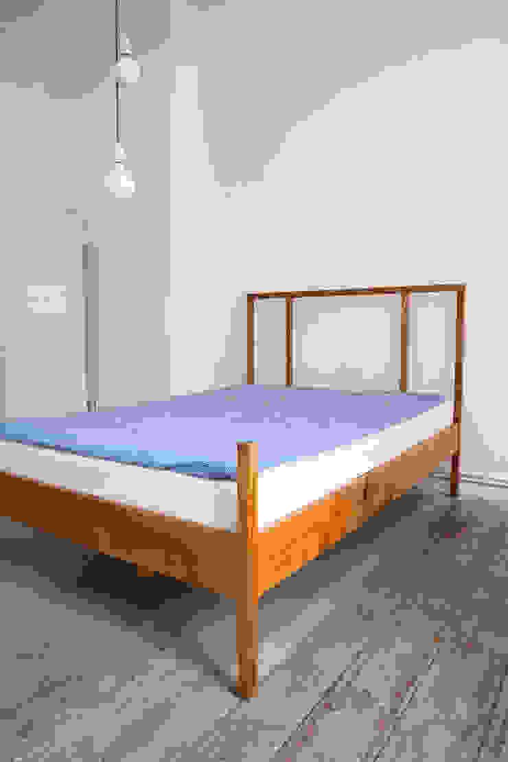 Maison du Bonheur 臥室床與床頭櫃