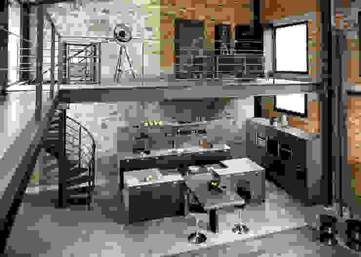 Cucina in stile industriale di Schmidt Küchen Industrial
