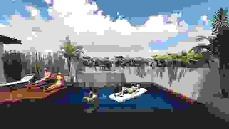 Residencia Santa Bárbara Albercas modernas de TEKTÓNIKA arquitectura + diseño Moderno