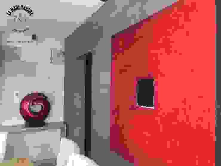 Casa Encinos (Remodelación) La Maquiladora / taller de ideas Paredes y pisos de estilo moderno