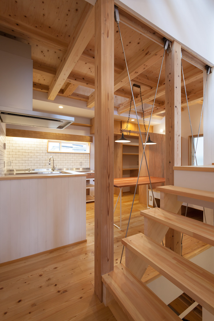 Eclectic style dining room by 株式会社グランデザイン一級建築士事務所 Eclectic Wood Wood effect