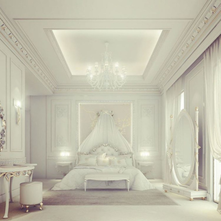 Exploring Luxurious Homes : Divine Bedroom Design Dormitorios de estilo clásico de IONS DESIGN Clásico Plata/Oro