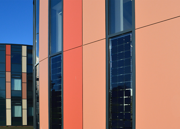 Photovoltaics Integrated into Glazing at Secondary School Extension ArchitectureLIVE Schools