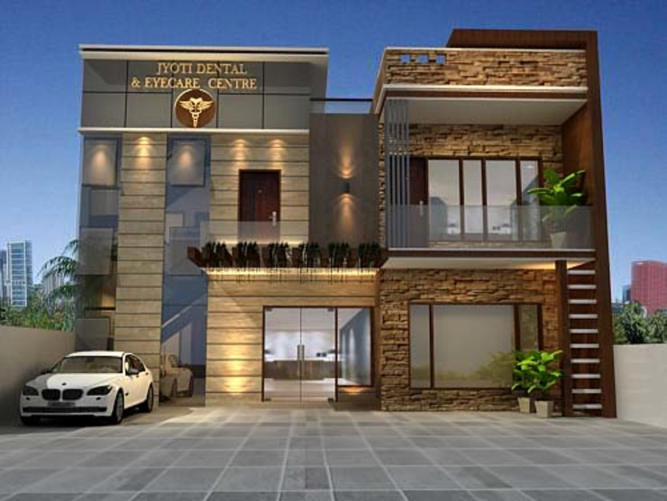 projets Country style houses by aakarconstructions Country
