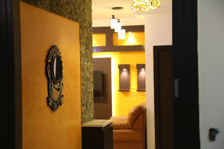 foyer area designs in chennai: modern  by Sai Decors,Modern Leather Grey