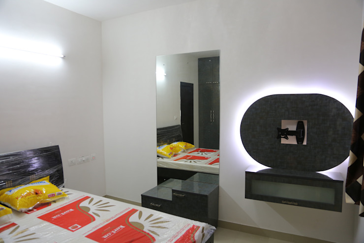 full home interior designers and decorators Modern style bedroom by Sai Decors Modern Plywood
