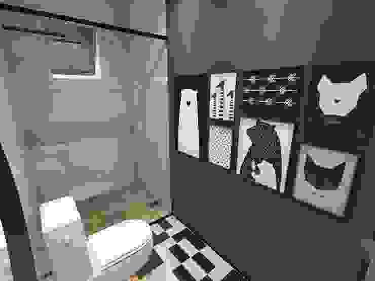 حمام تنفيذ Studio M Arquitetura,