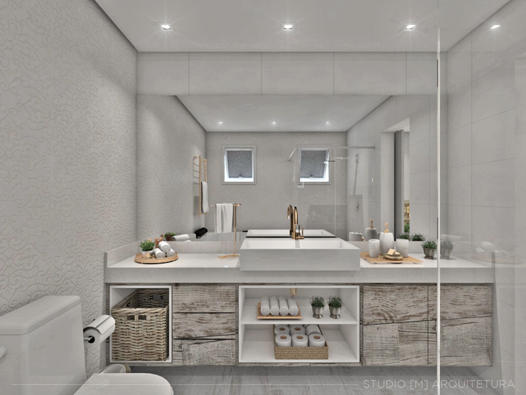 Scandinavian style bathroom by Studio M Arquitetura Scandinavian