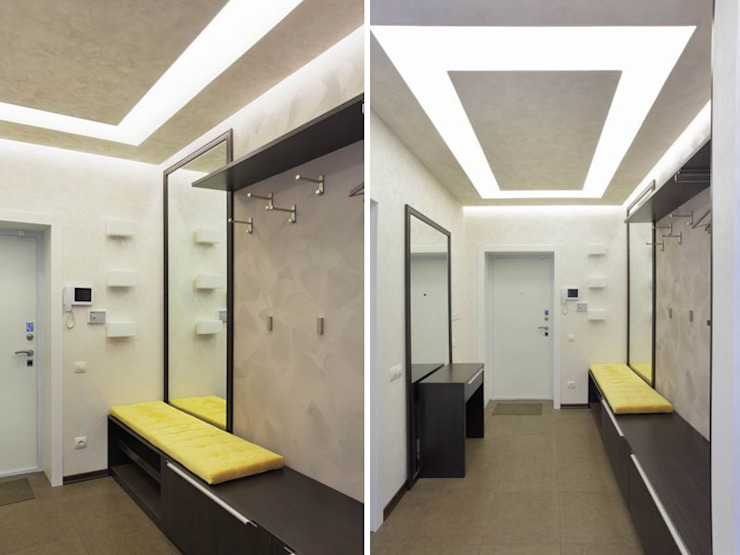 Minimalist corridor, hallway & stairs by Студия дизайна интерьера 'Градиз' Minimalist