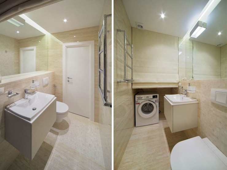 Minimalist style bathrooms by Студия дизайна интерьера 'Градиз' Minimalist