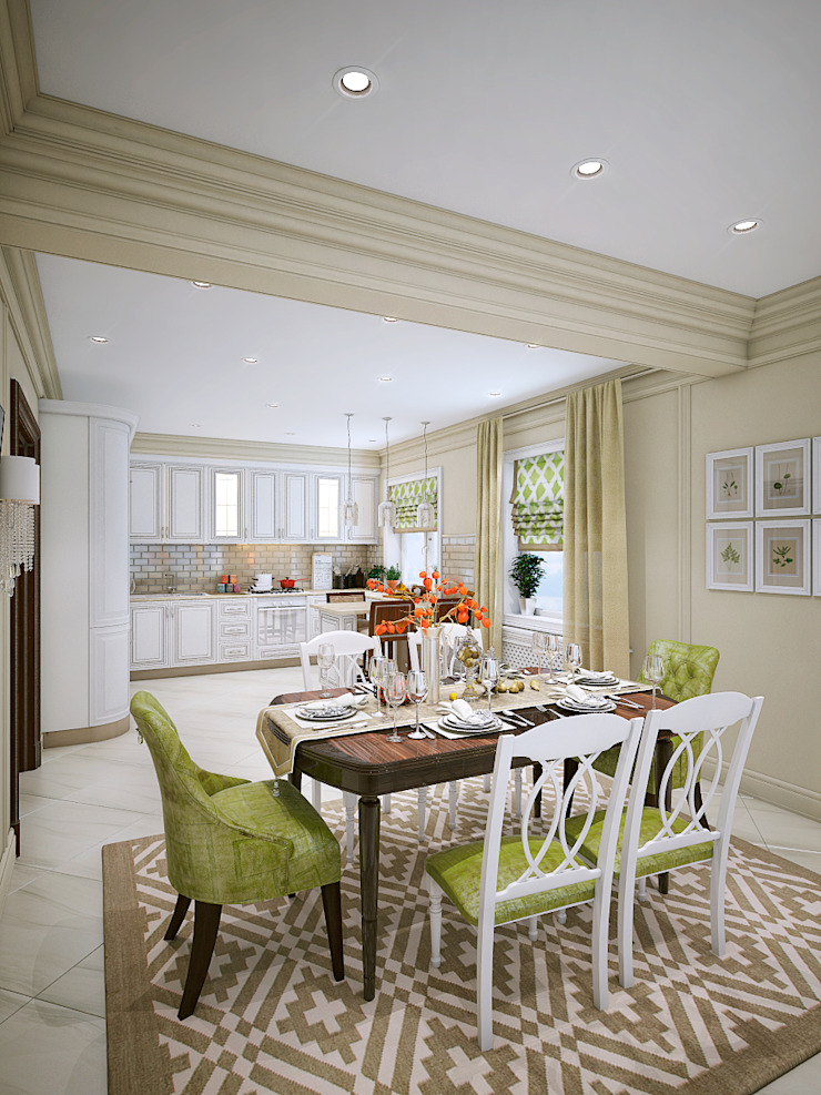 Дом в Заречье Столовая комната в классическом стиле от Алина Насонова Классический