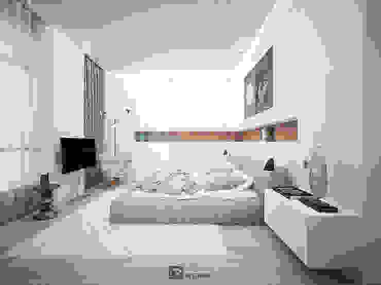 Интерьер квартиры 150 м2,г.Москва Спальня в стиле модерн от DesignRush Модерн