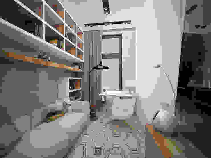 Интерьер квартиры 150 м2,г.Москва Рабочий кабинет в стиле модерн от DesignRush Модерн