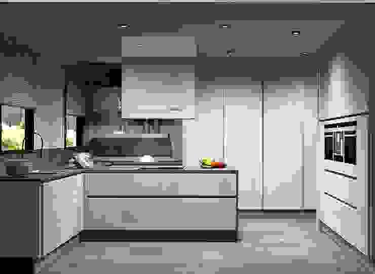 Amplitude - Mobiliário lda Cocinas de estilo moderno Tablero DM Blanco