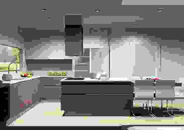 Кухня в стиле модерн от Amplitude - Mobiliário lda Модерн Дерево Эффект древесины