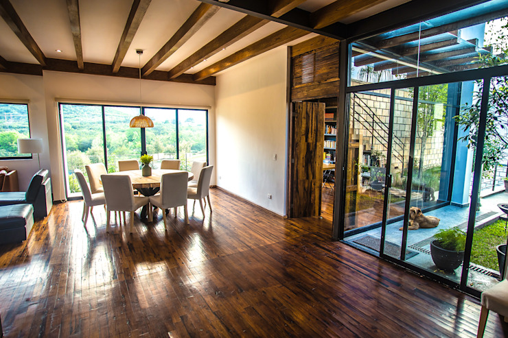 غرفة السفرة تنفيذ ICAZBALCETA Arquitectura y Diseño , حداثي