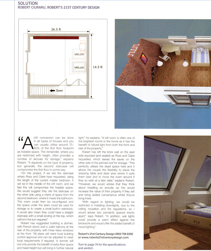 The <q>Kitchens Bedrooms & Bathrooms</q> magazine asked for our advice by Roberts 21st Century Design