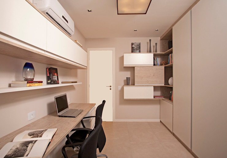 Andréa Spelzon Interiores Moderne Arbeitszimmer