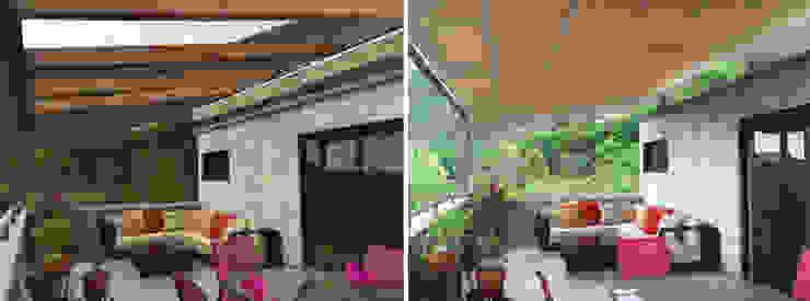 Terraza ICAZBALCETA Arquitectura y Diseño Balcones y terrazas de estilo moderno
