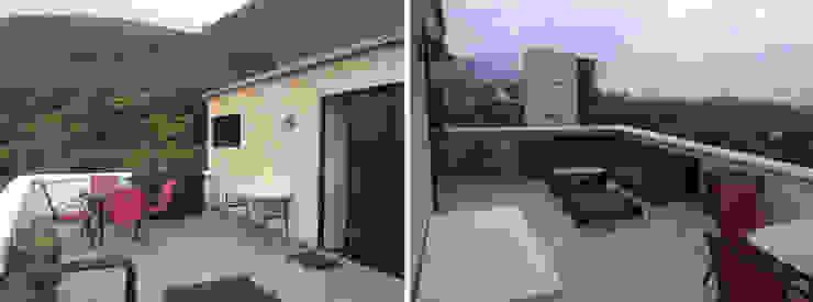 Antes de la remodelación ICAZBALCETA Arquitectura y Diseño Balcones y terrazas de estilo moderno