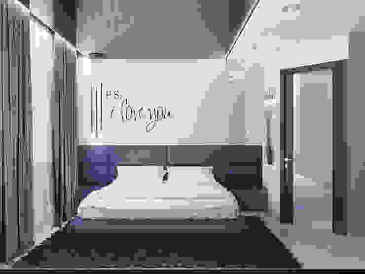 Minimalist bedroom by Ольга Рыбалка Minimalist