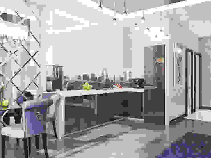 Контемпорари Квартира Кухня в стиле минимализм от Ольга Рыбалка Минимализм