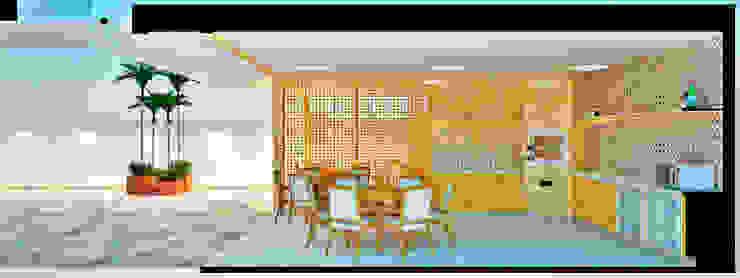 Espaço Gourmet Cozinhas rústicas por Arquiteto e Urbanista Ricardo Pereira Macedo Rústico Madeira Efeito de madeira
