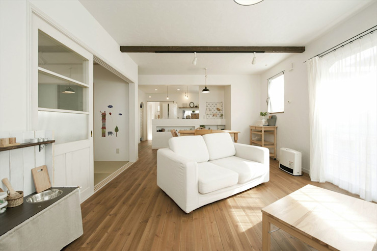 스칸디나비아 거실 by ジャストの家 북유럽