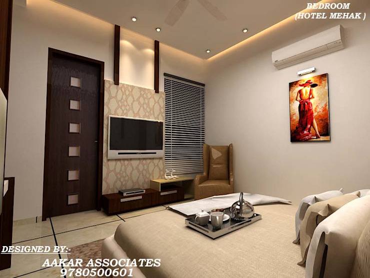 residental,commercial Modern style bedroom by aakarconstructions Modern